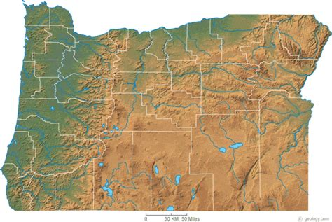 physical map of ohio oregon physical map and oregon topographic map