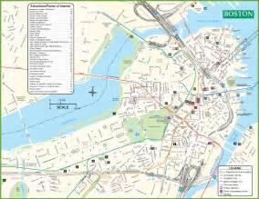 boston usa map earth boston tourist attractions map