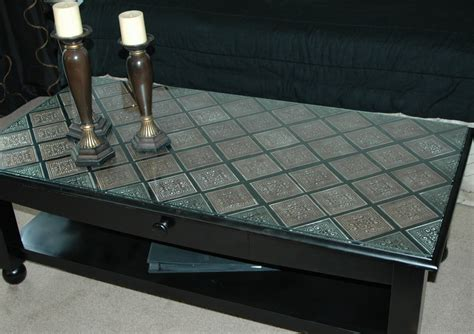 Tin Table by Creations By Christie Pressed Tin Coffee Table