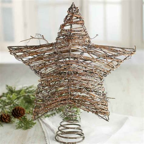 sparkling grapevine star tree topper trees and toppers