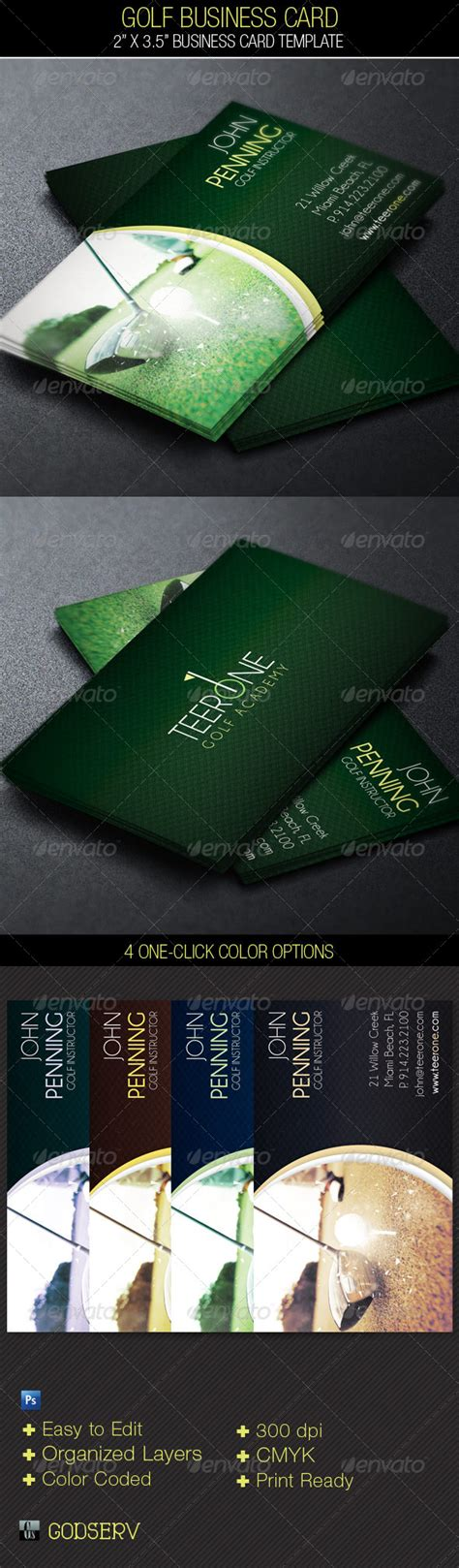 golf business card templates free golf business card template graphicriver