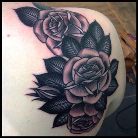 shoulder tattoo black and grey 69 graceful roses shoulder tattoos