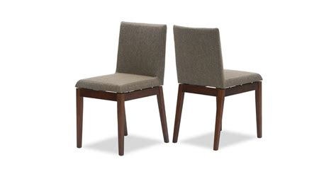 square fabric upholstered cocoa dining chair parsons