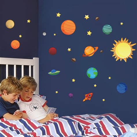 solar system wall stickers solar system wall stickers for rooms free shipping