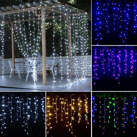 Icicle Hanging Curtain Fairy Wall String Lights Christmas