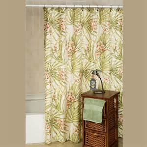 Tropical Print Curtains Tropical Shower Curtains Myideasbedroom