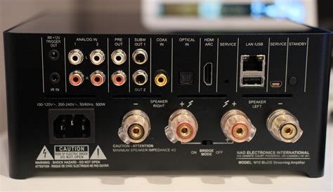nad  bluos  amplifier review reference home