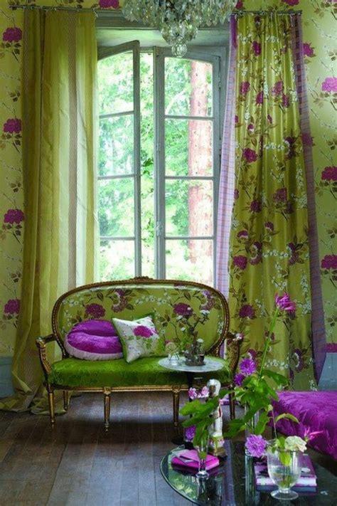 gemusterte vorhänge fenster gardinen grun speyeder net verschiedene ideen