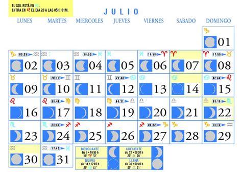Calendario Julio 2007 Calendario Lunar Julio De 2007