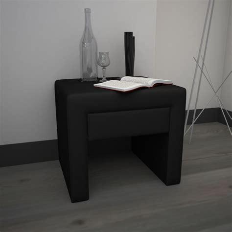 Table De Chevet Noir Pas Cher