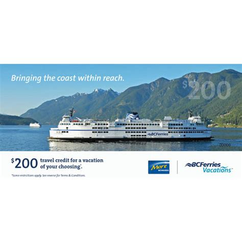 Bc Ferries Gift Card - travel transportation more rewards
