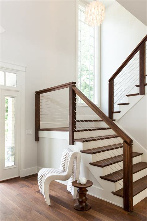 Rustic Kitchen Canisters by Indoor Stair Railing Staircase Transitional With Modern
