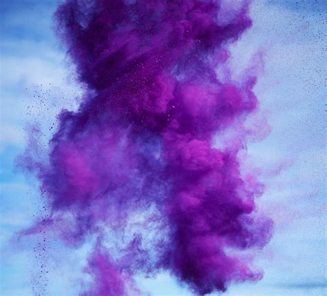 colorful explosions of paint pigments by rob and nick