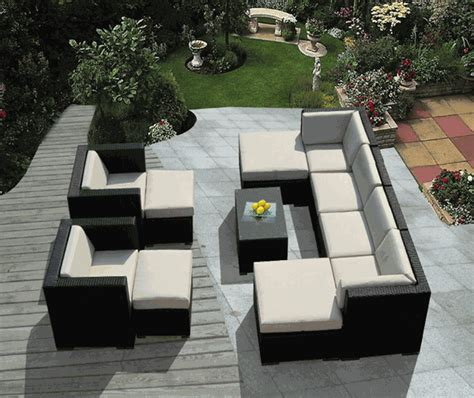 Patio Furniture Sectional Sets Beautiful Ohana Outdoor Patio Wicker Furniture Sectional 11 Pc Set
