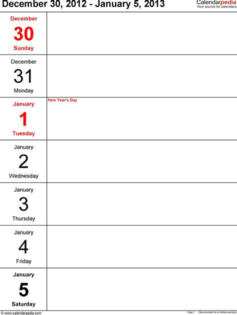 weekly calendar template mac weekly calendar template for mac pages