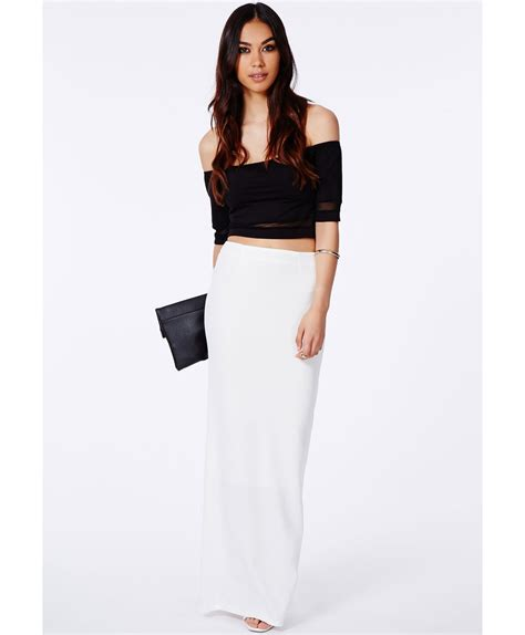maxi skirt with split maxi dresses black white