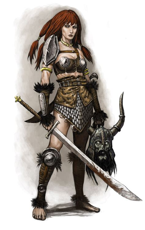 she warrior female warrior red sonja by wiggers123 on deviantart