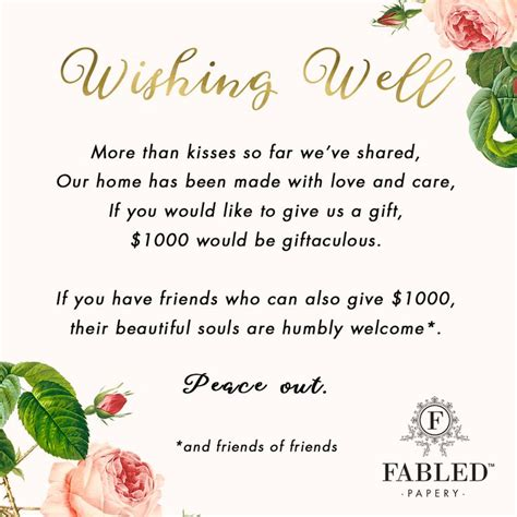 how much do you give for a wedding 90 how much do you give for a wedding wishing well
