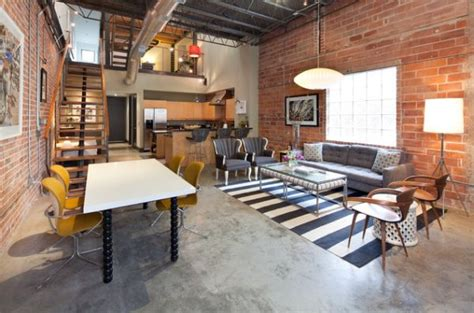 brick loft 23 lofts featuring industrial touches that gives a