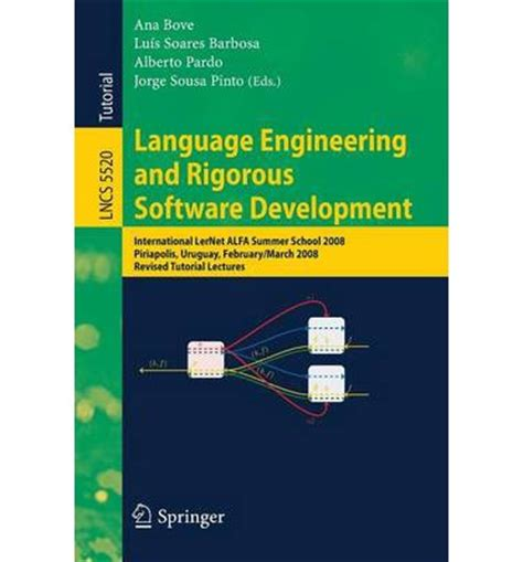 my engineer software my dreamer vol 2 volume 2 books language engineering and rigorous software development