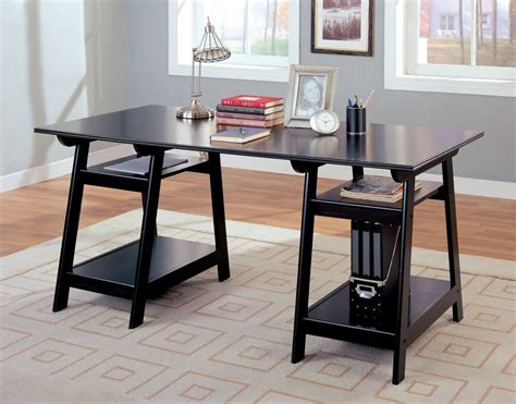 black home office desk contemporary bookshelf and desk with black wood finish