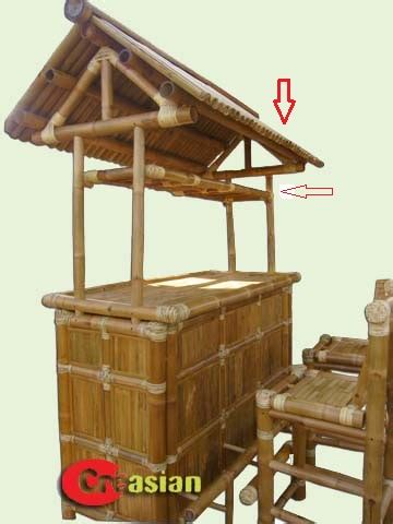 Bamboo Tiki Bar With Roof Quality Bamboo And Asian Thatch Adorable Quality Bamboo