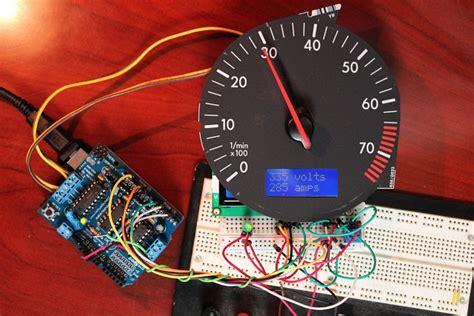 Voltmeter Analog Electric Merk Masda Berkualitas arduino tach hack diy electric car forums