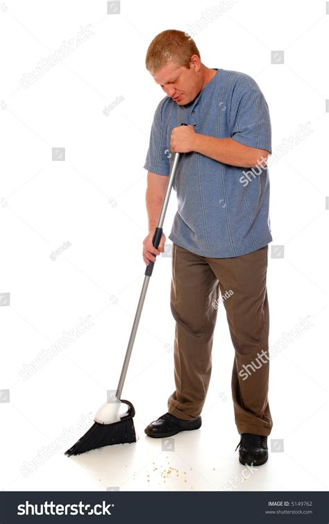 Sweeping The Floor by Sweeping Floor Home Broom Isolated Stock Photo 5149762
