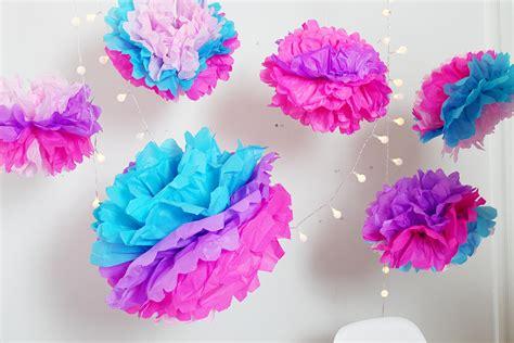 papier pompons selber machen diy deko pompoms selber machen schnelle einfache anleitung