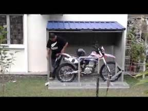 Plans For A Garage Mini Garage Exterior Para Moto Youtube