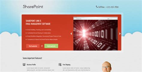 Sharepoint Landing Page By Owltemplates Themeforest Sharepoint Ecommerce Template