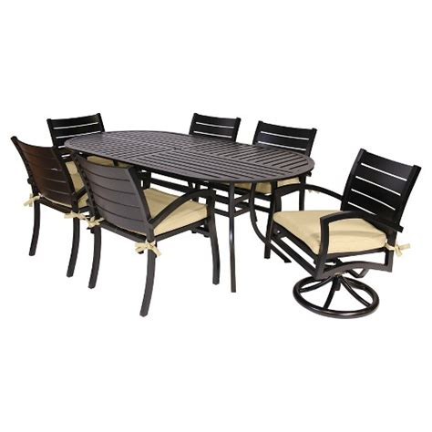 Target Patio Dining Set Fremont 7 Patio Dining Set Black Motion Target