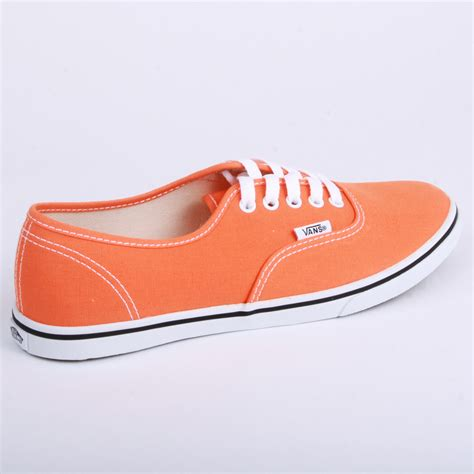 orange shoes for vans authentic lo pro t9n8yl womens canvas laced trainers
