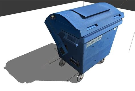ragdoll 3d model garbage container with ragdoll settings free 3d model