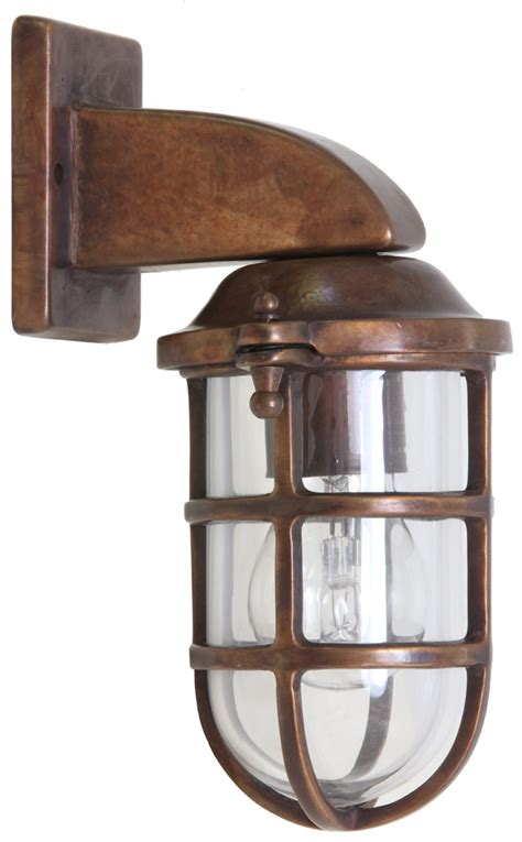 kupfer le italian nautical outdoor sconce cambusa 7620 terra lumi