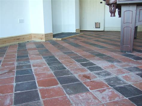 red tile floor cheap quarry tile floor u decor with red