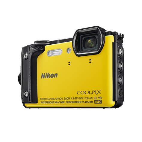 nikon coolpix waterproof nikon coolpix w300 16mp waterproof yellow