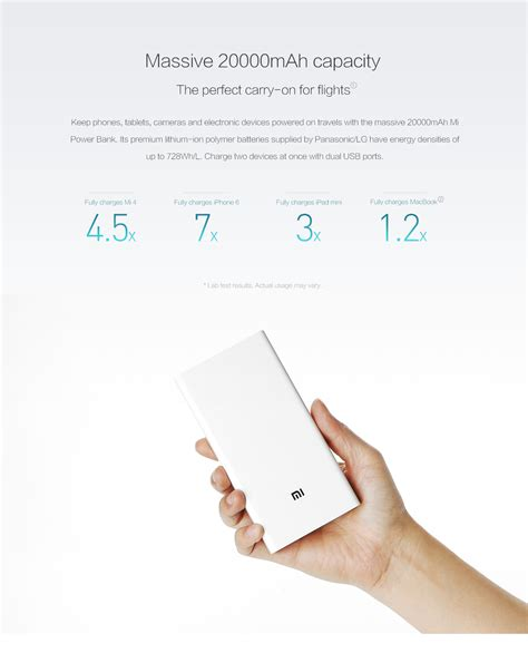 Powerbank Xiaomi 20000 Original Pb Xiaomi 20000 Original Putih original xiaomi mi powerbank 20000mah with lazada