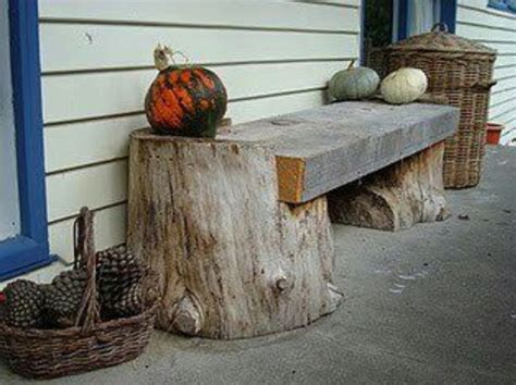 tree stump bench tree trunk slab bench i random outdoor projects pinterest