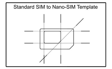 sim card cut template scio sphere diy nano sim to regular size sim adapter