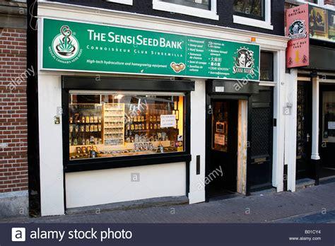 sensi seeds bank front of the sensi seed bank shop a cannabis store