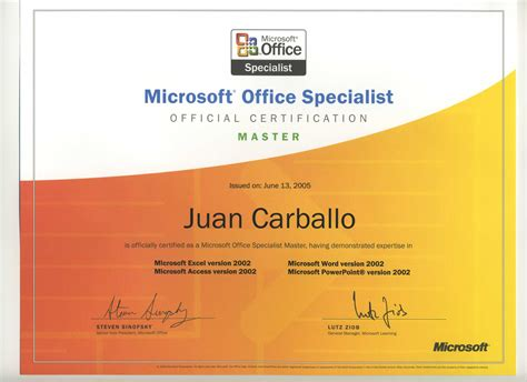 Office Specialist by Microsoft Office Master Instructor