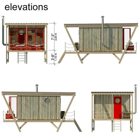elevated house floor plans elevated tiny house plans