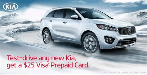 Test Drive Car Gift Card - 25 visa gift card for a kia test drive points with a crew