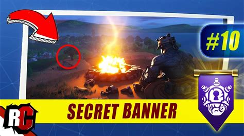fortnite week  secret banner location season  week