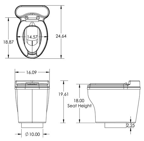 how wide is a toilet central composting toilets by sun mar