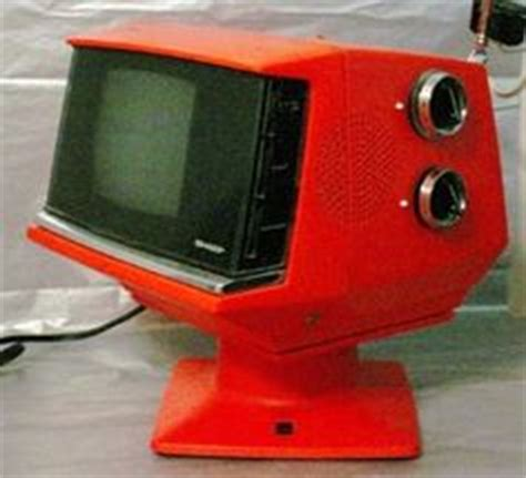 Tv Sharp Aqua audio visual on radios space age and television set