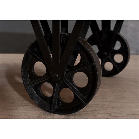 tabouret de bar style industriel 976 table basse industrielle grosses roulettes dpi import
