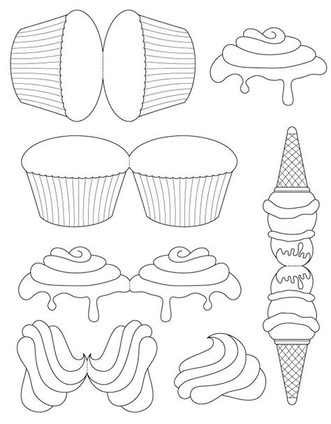 Cupcake Card Template Printable by 25 Best Ideas About Cupcake Template On