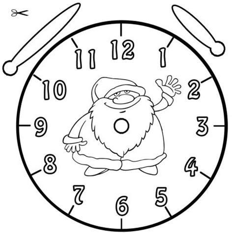 Kostenlose Vorlage Uhr Kostenlose Malvorlage Uhrzeit Lernen Ausmalbild Weihnachtsmann Zum Ausmalen